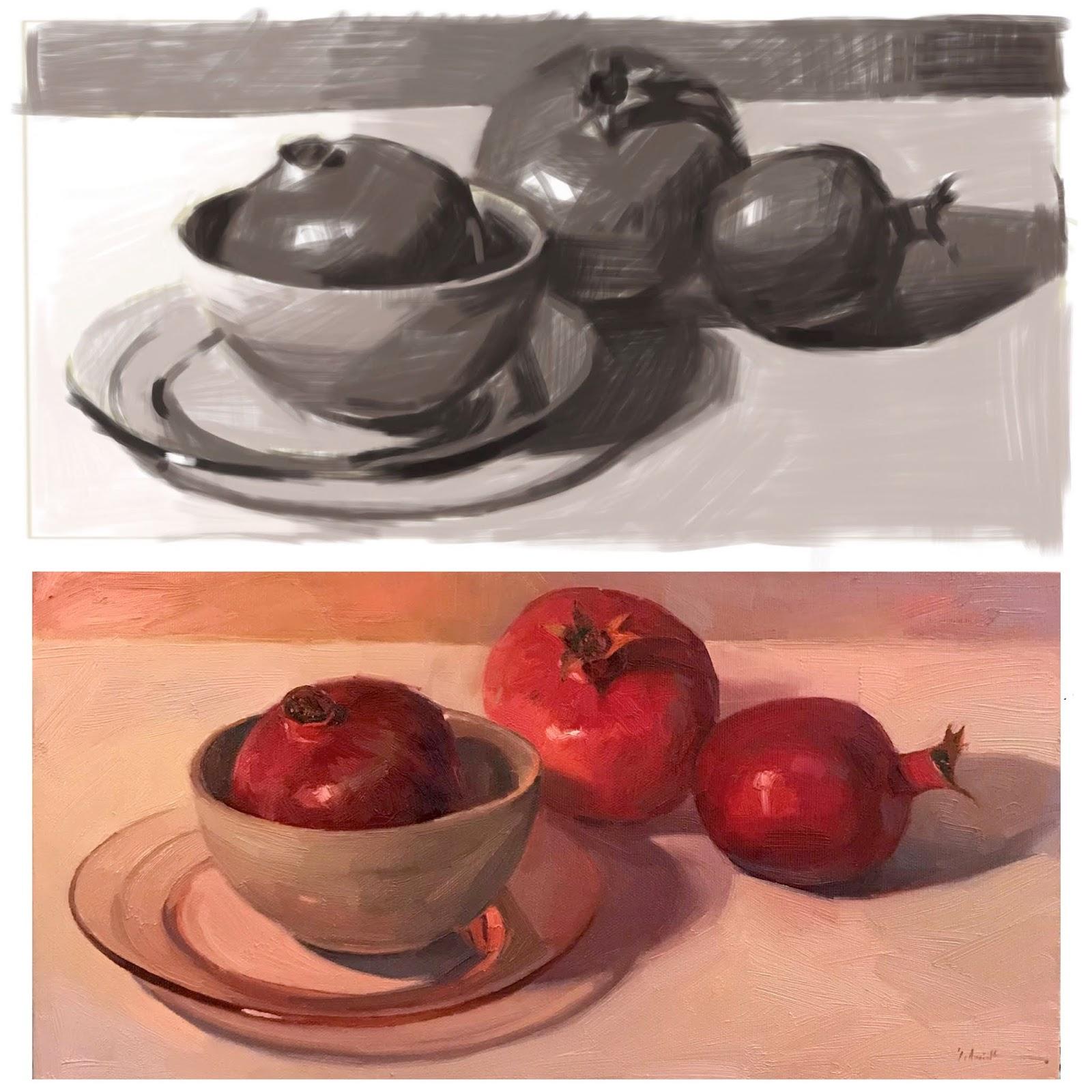 Sedwick Studio Purple Bowl Of Plums Fruit Bowl Still: Sedwick Studio: 2018