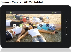 Sweex Yarvik TAB250 tablet