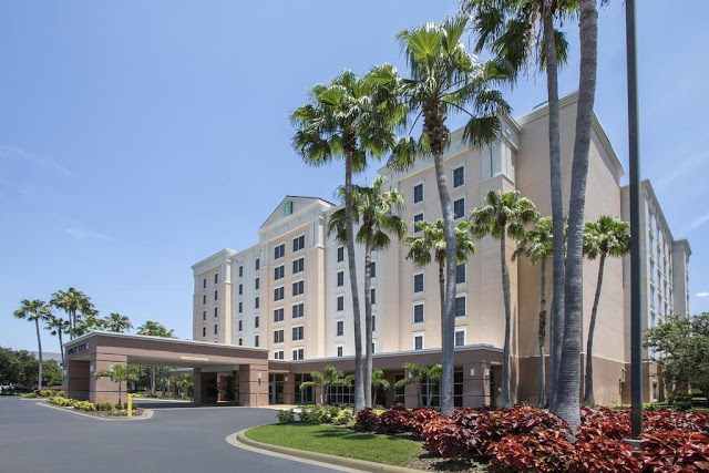Enjoy newly renovated rooms at the Embassy Suites by Hilton hotel near Orlando Airport hotel less than 1 mile from MCO with complimentary 24-hr airport shuttle.