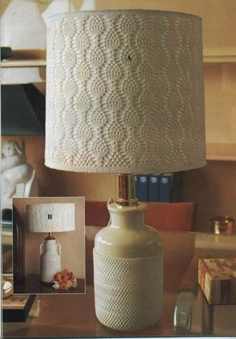 Patrón #1818: Lampara de Mesa a Crochet