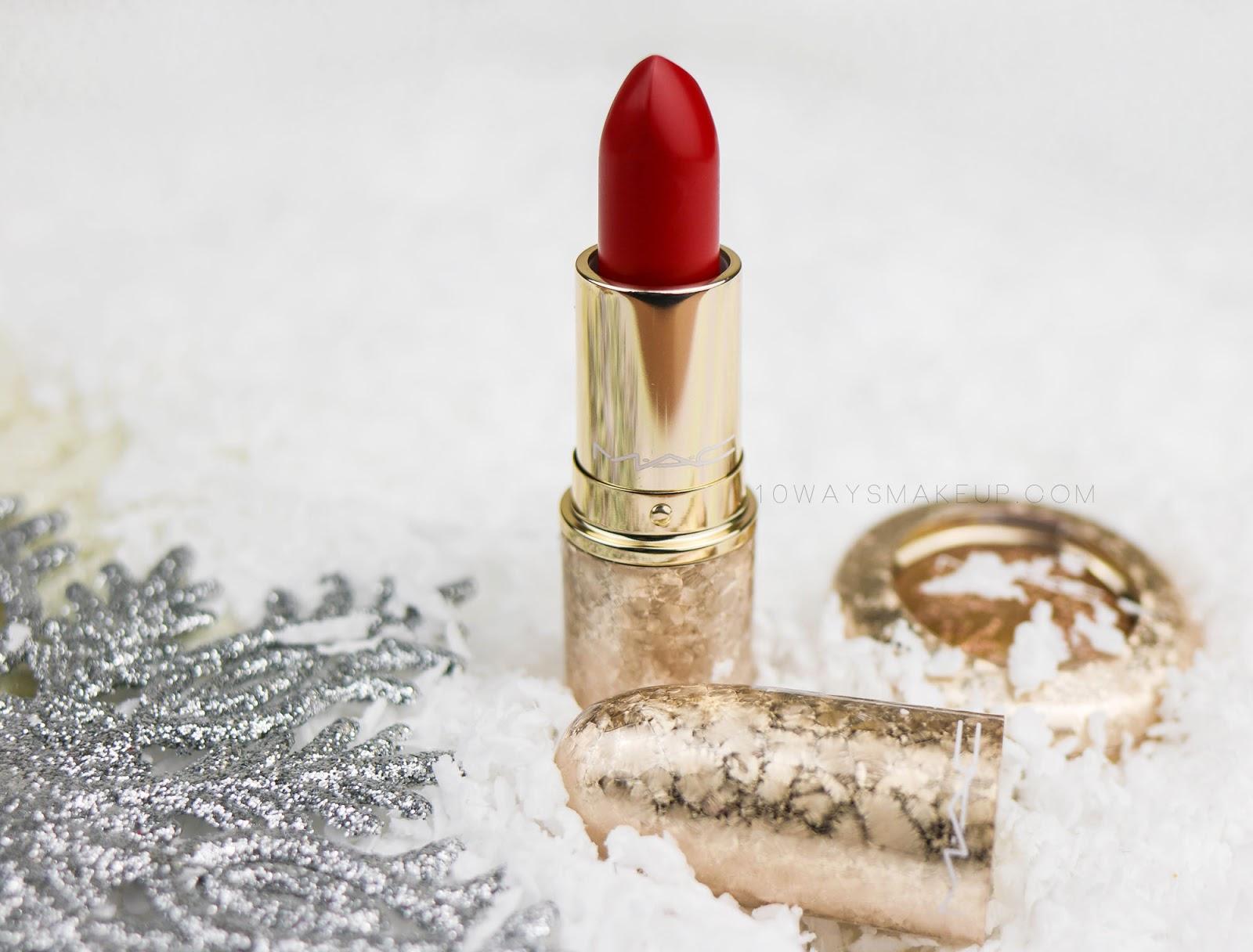 Mac Snowball Rouge en Snow Stylishly Merry swatch