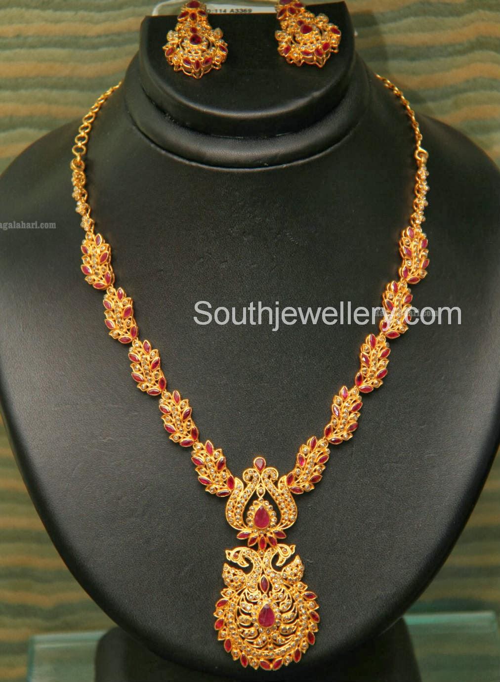 Uncut Diamond Necklace By Grt Jewellers Indian Jewellery