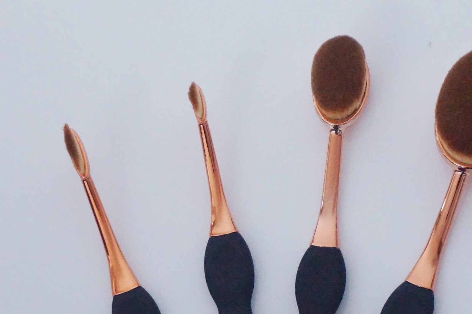 Beaubelle Oval Brushes, close up
