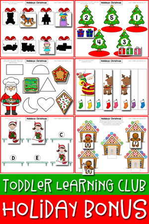 TODDLER HOLIDAY PRINTABLES