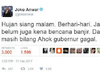 Netizen Figur Publik Berkicau Jakarta Tidak Banjir, Ternyata Faktanya Berbeda