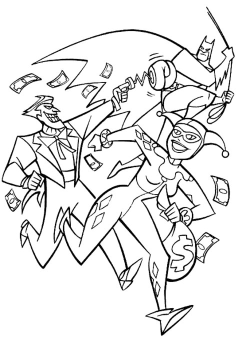 harley quinn coloring pages kids | Harley Quinn Printable Coloring Pages For Kids >> Disney ...