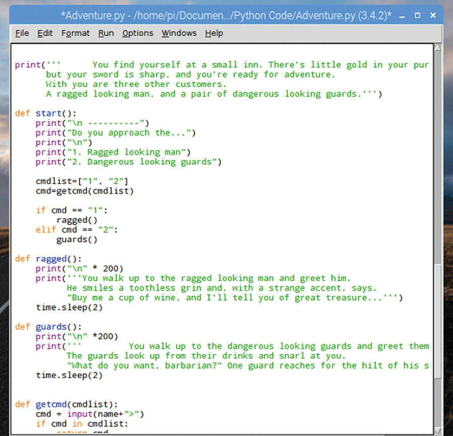 Python Text Adventure Script - Coding Tools and Resources
