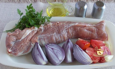 Preparare muschiulet de porc la cuptor-etapa 1