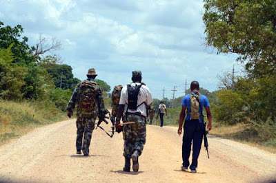 Kenya Navy Officers patrol Lamu County in this photo taken on September 18, 2016. Security officers repulsed suspected Al-Shabaab militants who attacked a vehicle crossing from Somalia to Kenya on August 27, 2016. PHOTO   FILE   NATION MEDIA GROUP