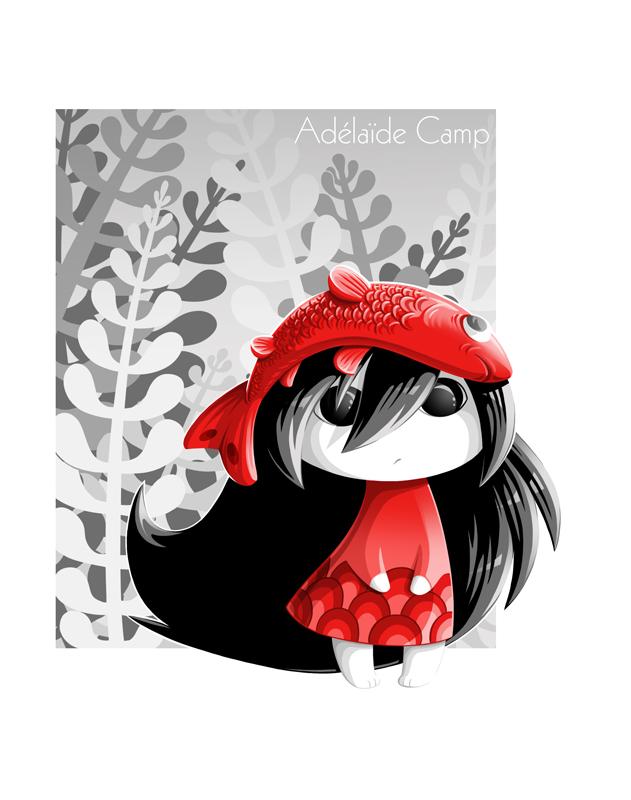 Adélaïde Camp Illustratrice La Petite Fille Au Chapeau Poisson