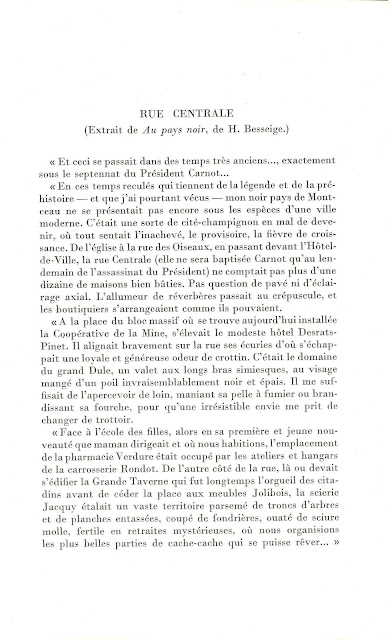 """Extrait du livre """"Montceau a Cent Ans"""", page 109 (collection musée)"""