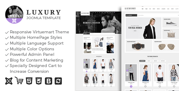 DOWNLOAD FREE Luxury - Responsive Virtuemart Theme