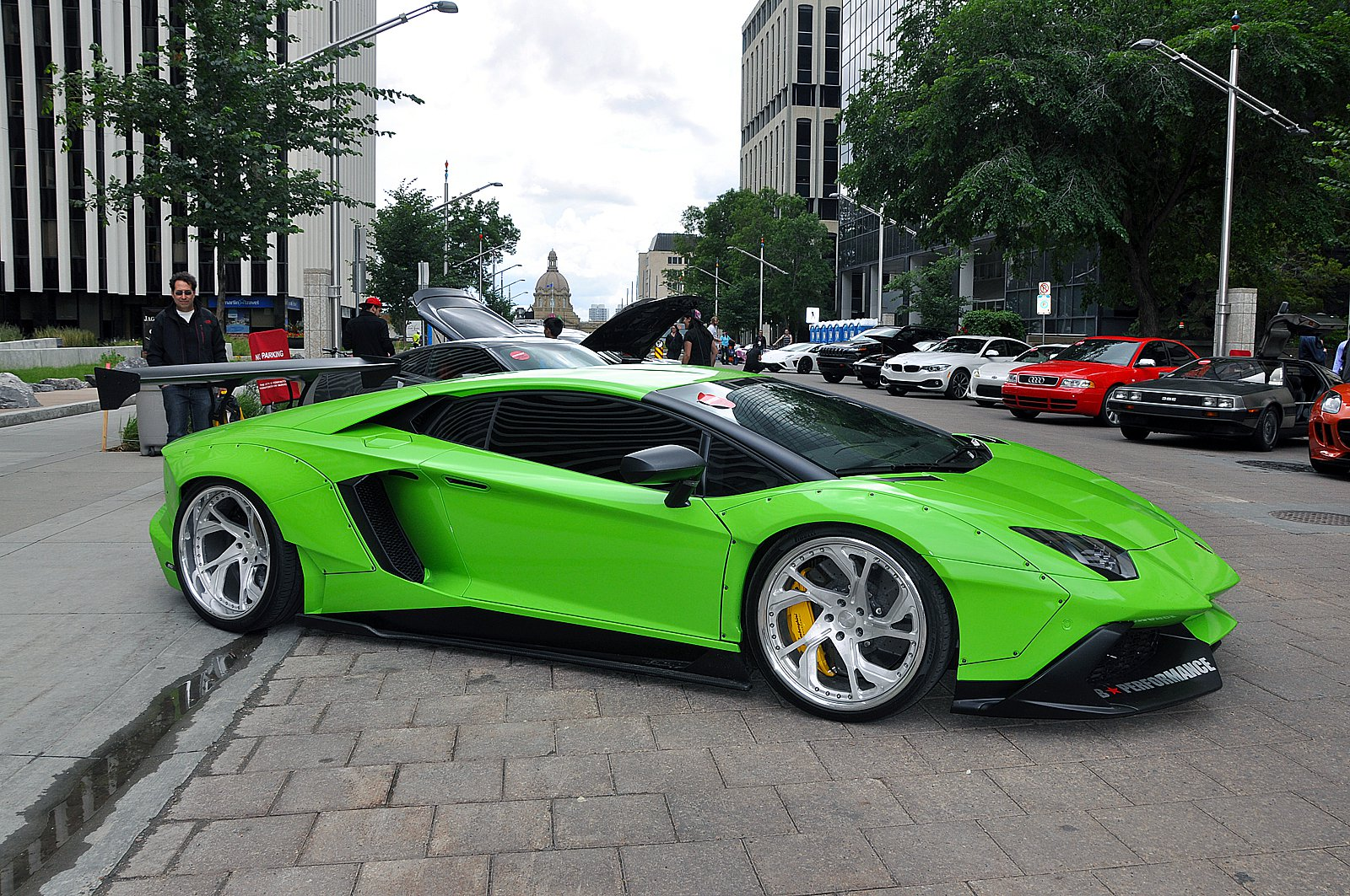 Cars Don T Get Much Crazier Than A Lime Green Liberty Walk