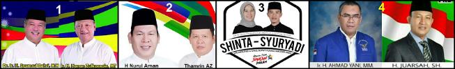 Empat pasang calon bupati dan wakil bupati Kabupaten Muara Enim 2018