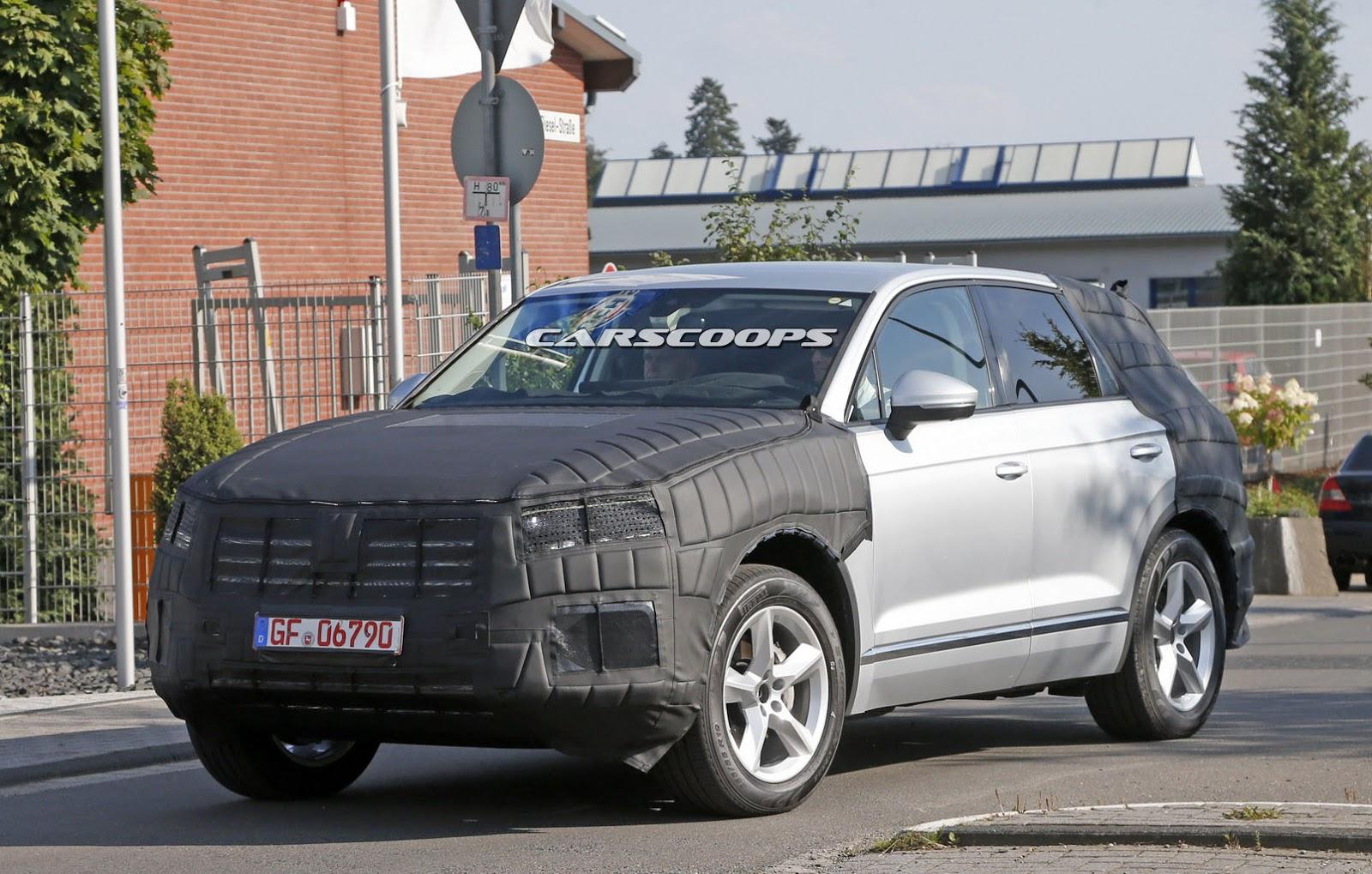 generation volkswagen touareg scooped  updated design carscoops