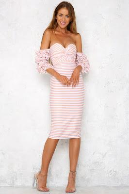 vestidos estampados manga larga