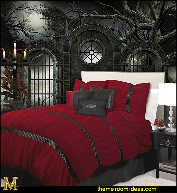 gothic bedroom decorating ideas gothic wall murals - Ideas For Bedroom Decorating Themes