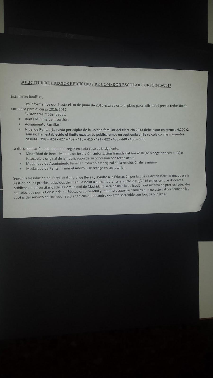 Locowriche at jl solicitud de precios reducidos de for Comedor escolar
