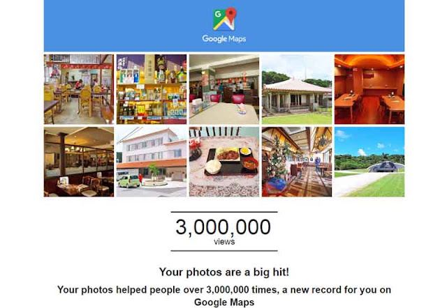 Google Maps 3 Million Views, Wordless Wednesday