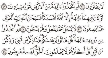 Tafsir Surat Al-Anbiya' Ayat 21, 22, 23, 24, 25
