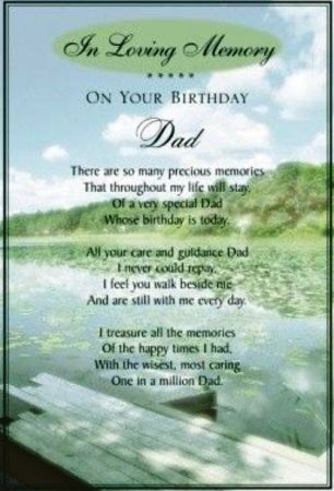 Happy Birthday Dad in Heaven Quotes, Poems, Pictures from ...