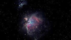 Orion Nebula on the Night Sky