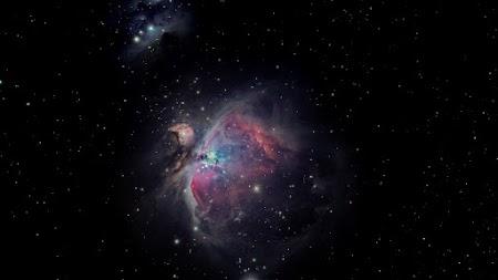 Orion Nebula on the Night Sky