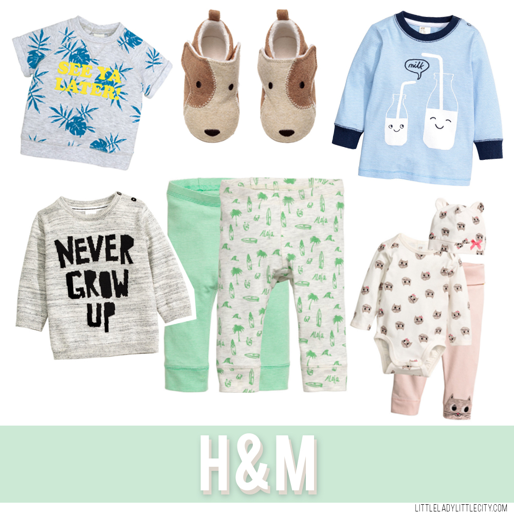 Favorite Stores for Baby Clothes - Target, Carter's, H&M - littleladylittlecity.com