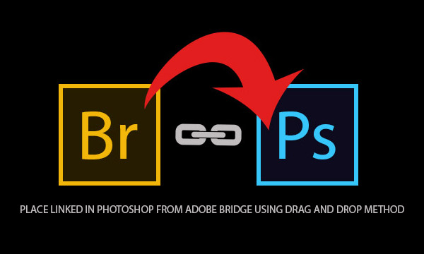 Place Linked in Photoshop From Adobe Bridge Using Drag and Drop Method
