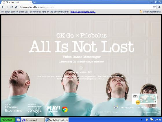 Eksperimen Browser Google Chrome, All Is Not Lost