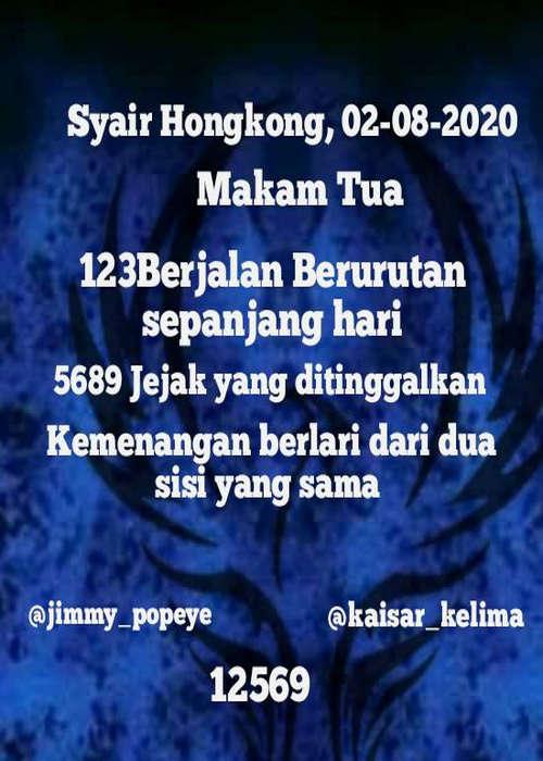 Kode syair Hongkong Minggu 2 Agustus 2020 16