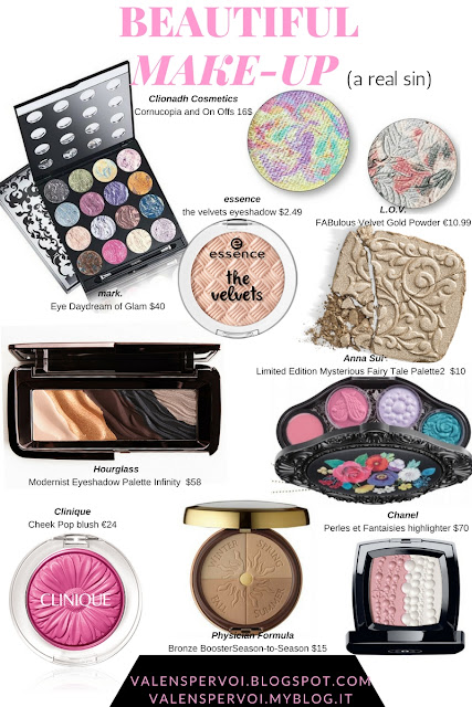 The most beautiful make-up products: 3D pans and creative packaging. A real beauty sin 3d eyeshadows
