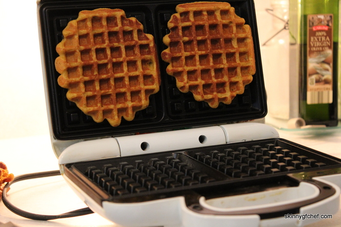 Make these easy blender grain-free Pumpkin Waffles in minutes!