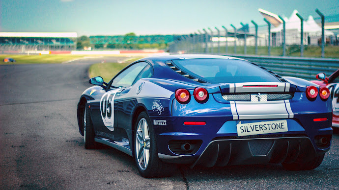 Wallpaper: Blue Ferrari F430