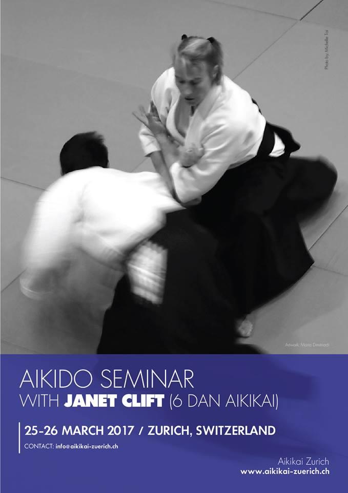 Αϊκίντο σεμινάριο με την Janet Clift Σενσέι 6ο Dan Αϊκικάι, στη Ζυρίχη