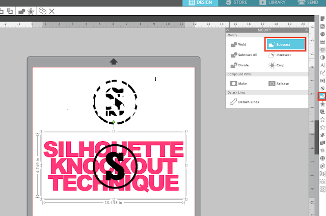 knockout, knockout technique, knockout design, silhouette design studio, silhouette studio tutorials