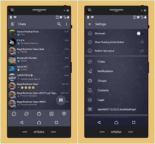 Download BBM Mod Dark NAVY v3.3.2.31 Apk Terbaru: