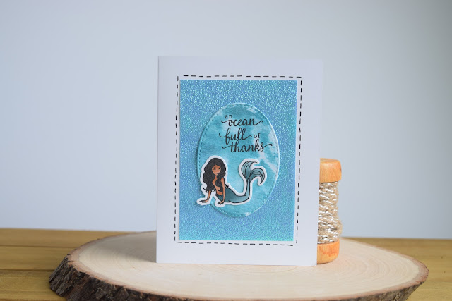 Mermaid Card by Jess Crafts using Hero Arts May 2017 Card Kit