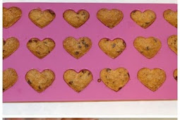Chocolate Chip Heart Cookies Valentine