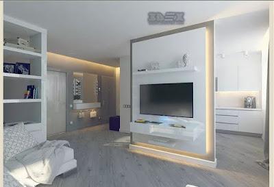 Plasterboard room divider wall