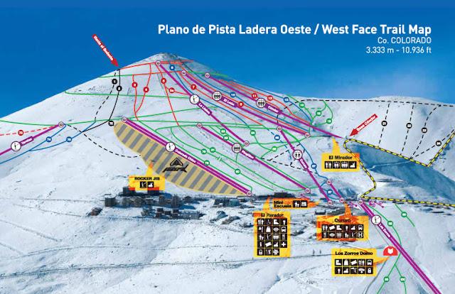 Estação de esqui El Colorado em Santiago do Chile