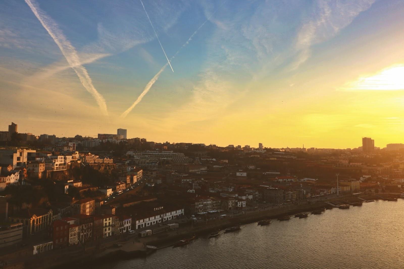 zachód słońca porto