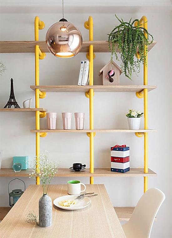 estante com cano, pipe shelves, estante, faça você mesmo, diy, a casa eh sua, acasaehsua, móvel, armário, estante com cano amarelo