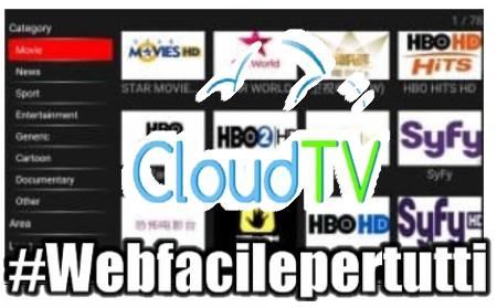 New Cloud TV - Applicazione Android Con Tantissimi canali TV da tutto il mondo
