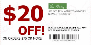 vera bradley in store promotions