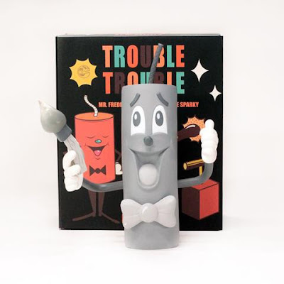 New York Comic Con 2015 Exclusive Mono Edition Trouble Trouble Vinyl Figure Set by DabsMyla