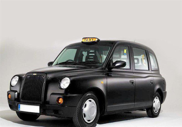 London black taxi used as tourist taxi in Iran.