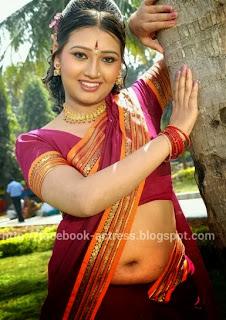 Actress Telugu Actress Ambika Hot Navel Show