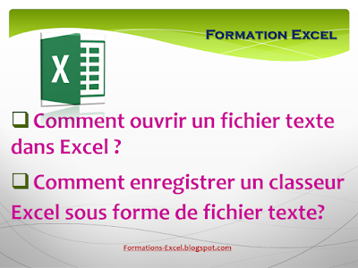 Ouvrir un fichier texte dans excel
