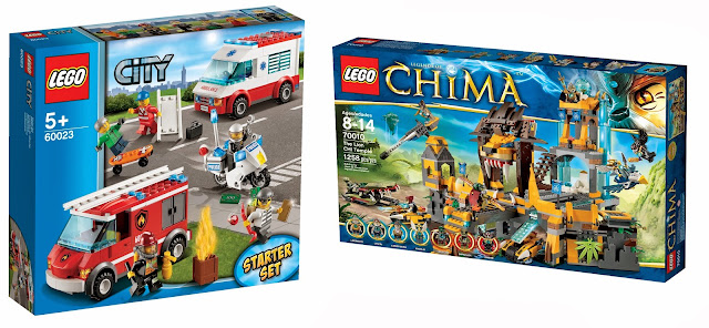Dream Toys 2013 Top 10 toys, LEGO City Starter Set, LEGO CHIMA Chi Temple